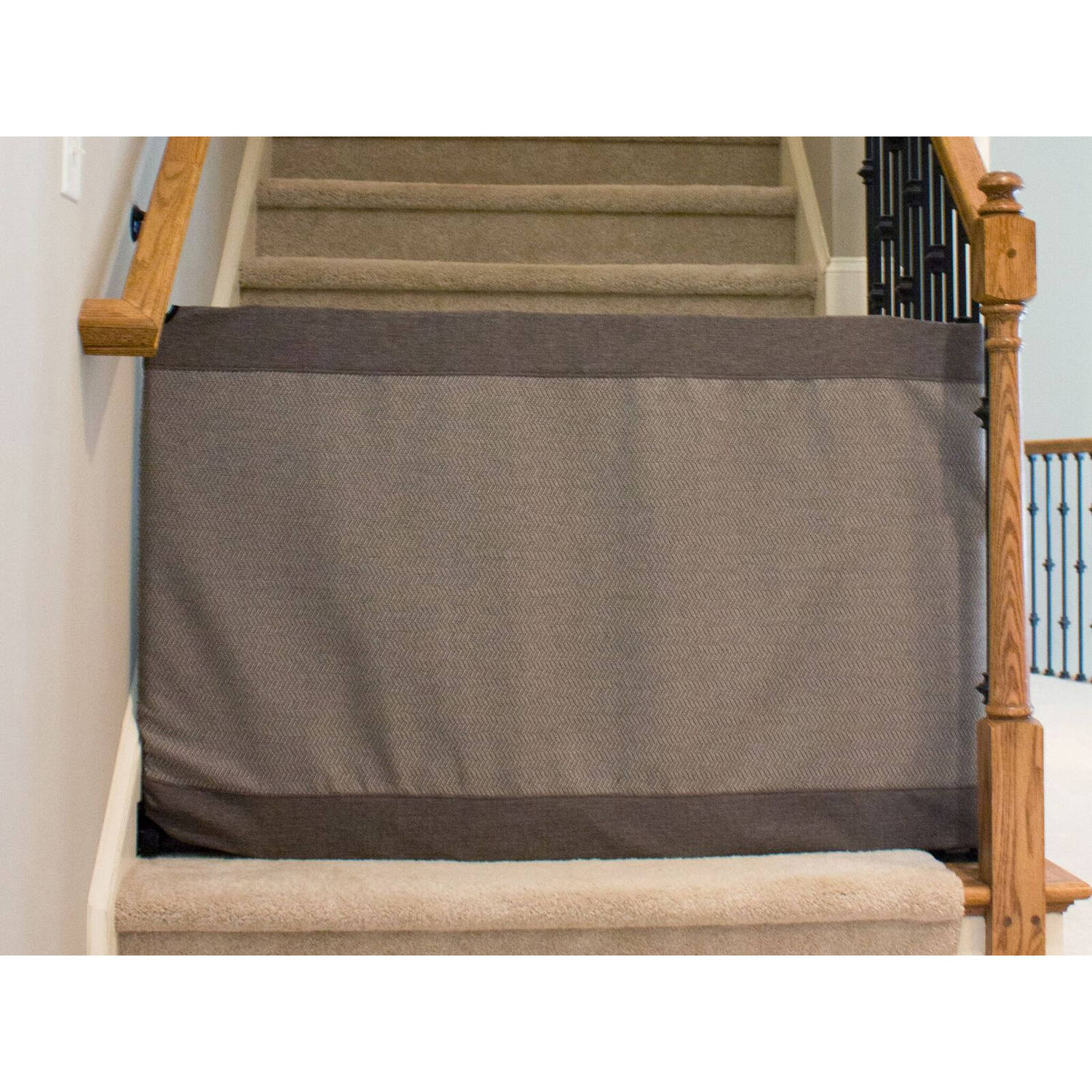 The Stair Barrier Banister To Wall Gate, Modern Gray