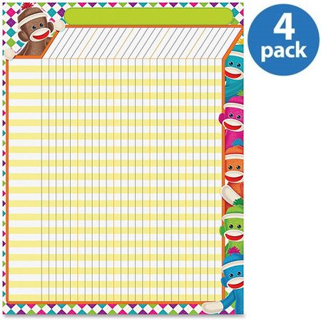 (4 Pack) Trend, TEPT73375, Sock Monkeys Collection Large Incentive Chart, 1 Each
