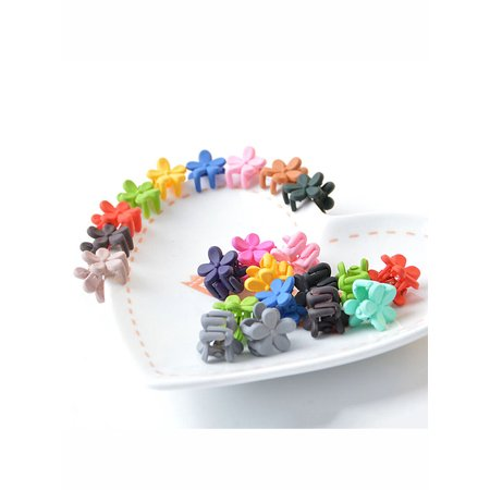 - Coxeer 50 Pcs Baby Girls Mini Flower Hair Claws Hair Clips for Toddler Girls Kids, Assorted Color