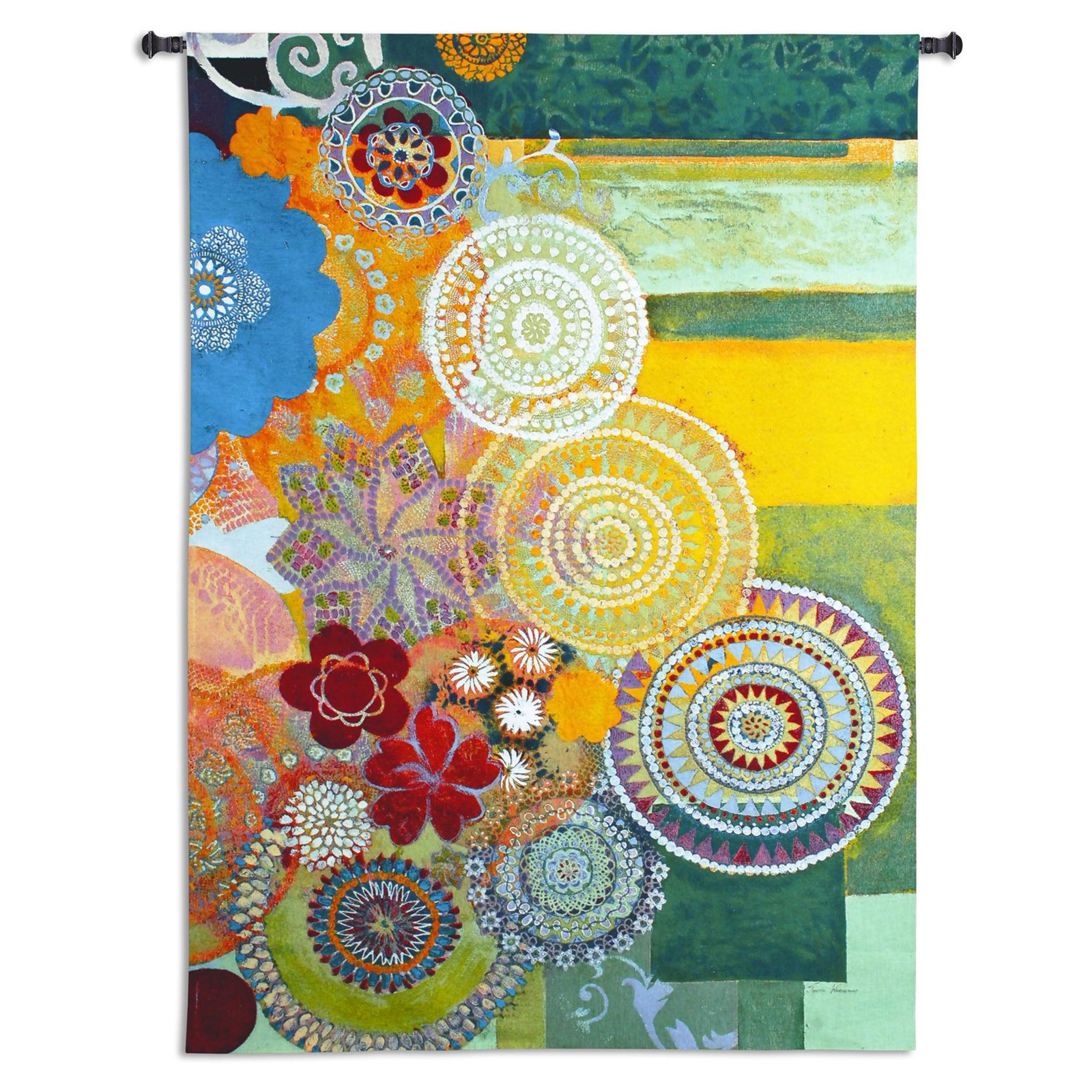 Fine Art Tapestries Lace Curve Wall Tapestry by Supplier Generic