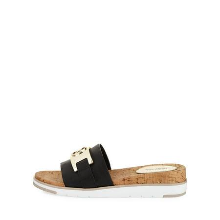 c8cc3741789a MICHAEL Michael Kors Womens Warren Sandal Leather Open Toe Casual Slide  Sandals