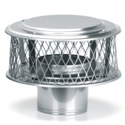"""HomeSaver 13866 8"""" Round 304 Alloy Stainless Steel Chimney Cap with 3/4"""" Mesh fr"""