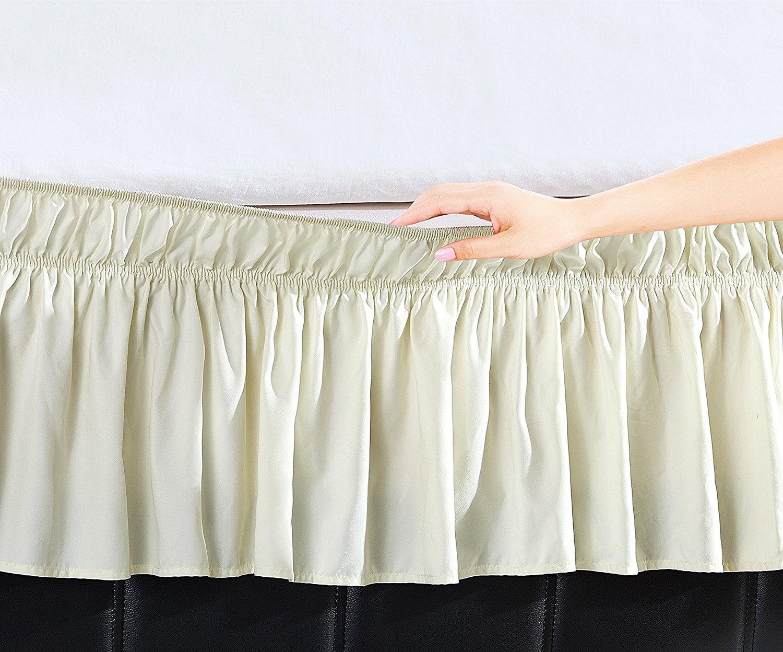Elegant Comfort Luxury Wrinkle Resistant -Wrap Around Style- Elastic Bed Wrap Ruffled... by