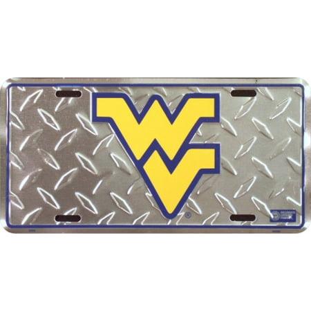 University of West Virginia Diamond Embossed License Plate