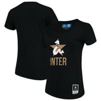 Inter Milan Levelwear Women's Capital Script T-Shirt - Black