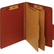 Pendaflex, PFXPU61RED, Bonded Fastener Classification Folders, 1 Each, Red