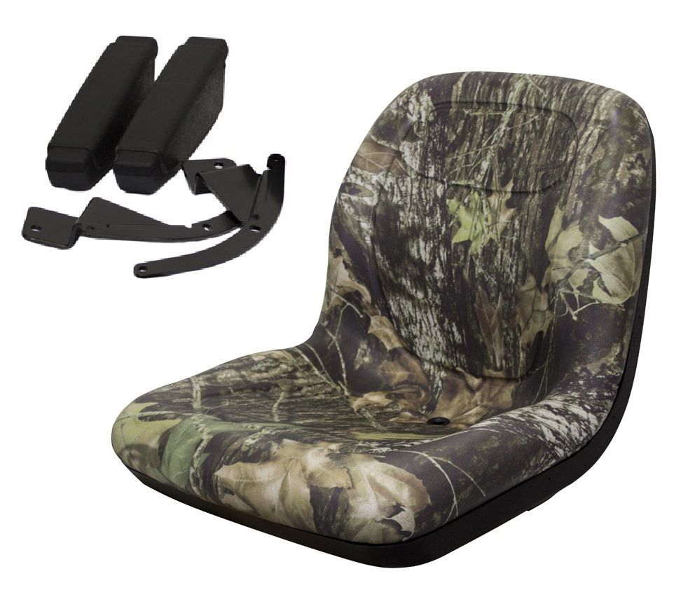 New Camo HIGH BACK SEAT w  ARM RESTS for Scag ZTR Zero Turn Lawn Mower Tractor by The ROP Shop by Milsco