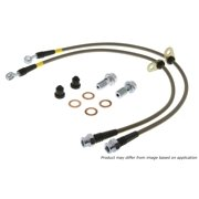 StopTech 950.42010 Stainless Steel Braided Brake Hose Kit; Front;