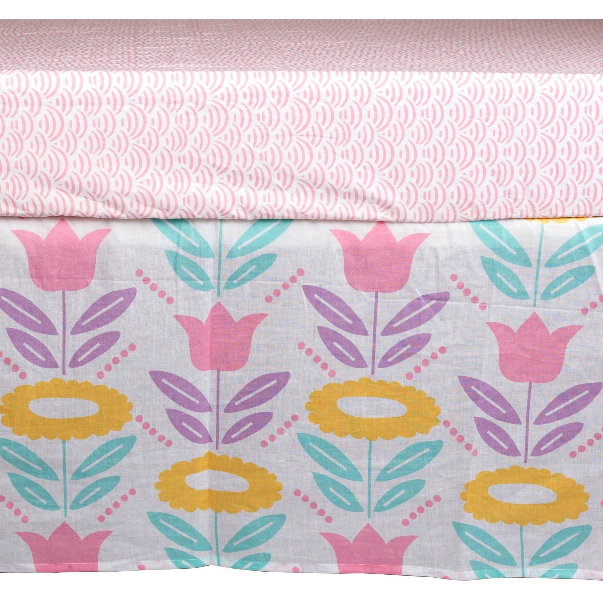 Poppi Living Flower Premium Cotton Crib Skirt