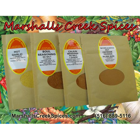 Marshalls Creek Spices Sample Pack -Bring On The Heat, Some Like It HOT No Salt,