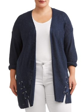 9bd3e4909a Women s Plus-Size Cardigans and Sweaters - Walmart.com - Walmart.com