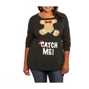 Holiday Women's Plus Gingerbread Catch Me Pullover Sweater