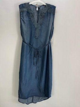 17ae9a34b1d Product Image (6-Pack) Liz Lange Denim Colored Maternity Dress - Size   Medium