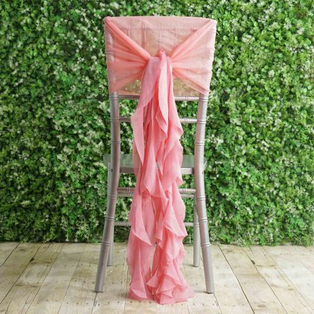 Astonishing Balsacircle Premium Curly Chiffon Chair Cover Cap With Sashes Wedding Party Ceremony Reception Decorations Cheap Supplies Ibusinesslaw Wood Chair Design Ideas Ibusinesslaworg