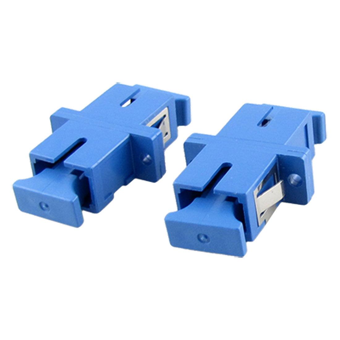 CATV Coupling Blue SC PC Optic Fiber Adapter Coupler X5