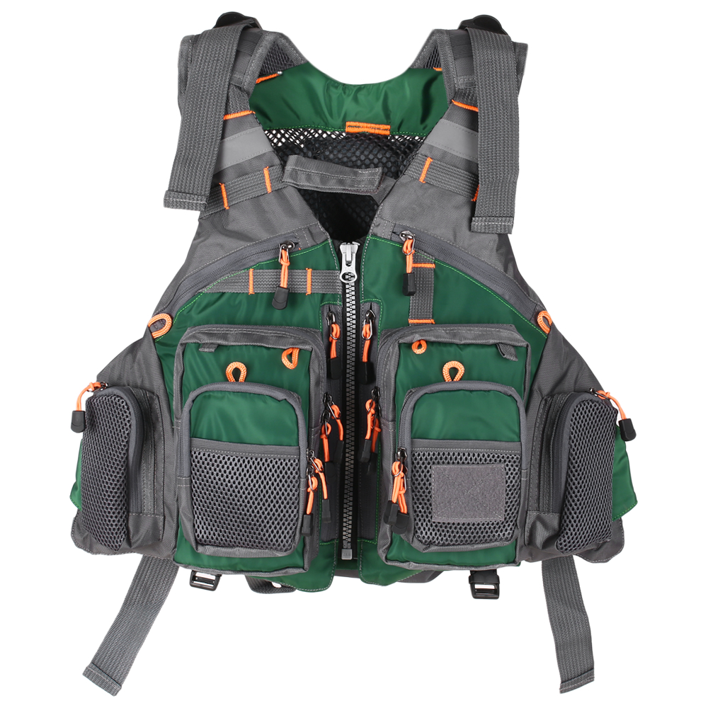 Details about  /Life Jacket Vest for Fishing Surfing Sailing Boating Swimming Safety Gear Green