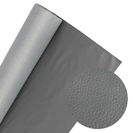 Car Marine Vinyl Fabric Upholstery Grade Replace Decorate Faux Leather by Yard (1Yard, Grey)