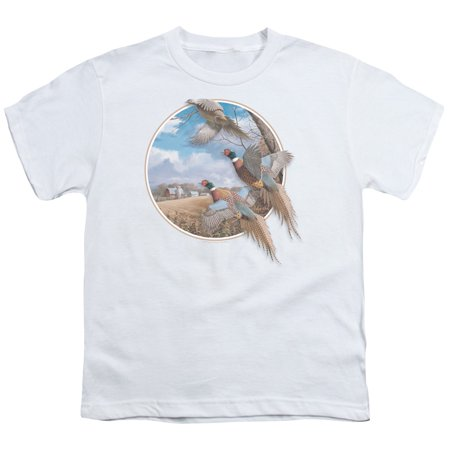 Wildlife/October Memories Pheasants   S/S Youth 18/1   White     Ww109
