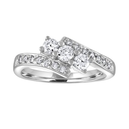 Past Present Future Jewelry Set (Sterling Silver CZ Past Present Future Statement Ring - 5 )