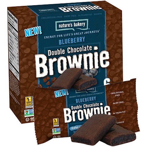Nature's Bakery Blueberry Double Chocolate Brownie, 2 oz, (Pack of 12)