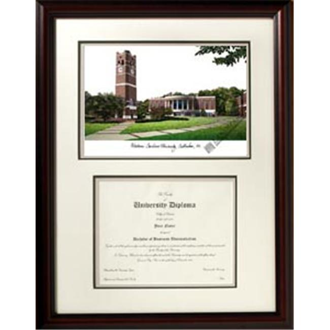 Campus Images NC994V Western Carolina University ''Scholar'' Lithograph and Diploma Frame