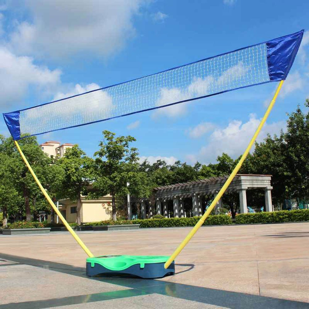 HLC 3 in 1 Outdoor Folding Adjustable Badminton Set,Tennis, Badminton, Volleyball Net with Stand,Battledore