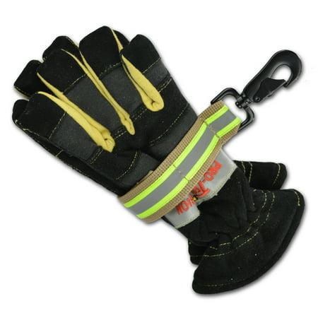 Lightning X Heavy-Duty Firefighter Work Glove Strap w/ Reflective - Turnout TAN ()