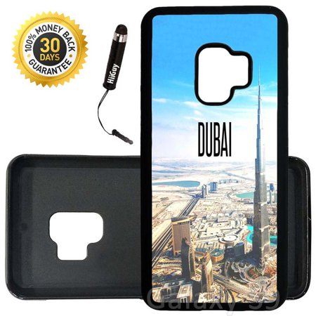 Custom Galaxy S9 Case (City Dubai) Edge-to-Edge Rubber Black Cover Ultra Slim | Lightweight | Includes Stylus Pen by (Dubai Gifts)