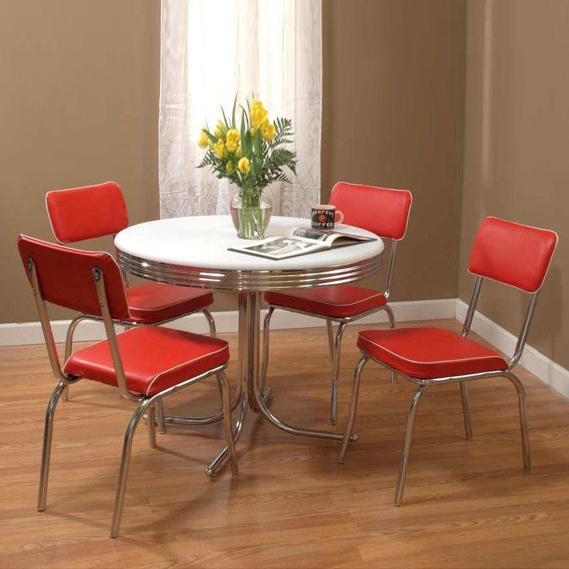 Target Marketing Systems 5pcretg 5-piece Retro Dining Set...
