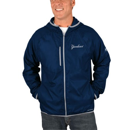 New York Yankees Majestic Strong Will Dry Base Full-Zip Hooded Jacket -