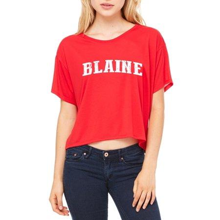 e89cd042 Blaine Minnesota T-Shirt Home of University of Minnesota and UMN Golden  Gophers Artix Womens Shirts Flowy Boxy