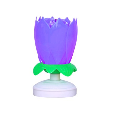Joyfeel Clearance Round Bottom Double Layer 14 Candles Rotary Lotus