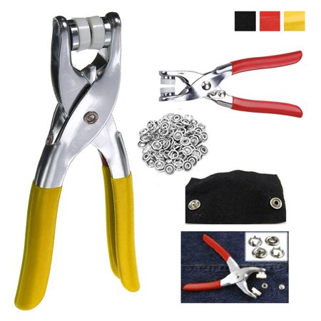 Snap Fastener Pliers Tool Kit 108 Snaps Pieces 27 Sets Easy Press Button Crafts