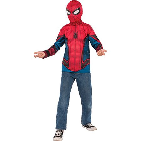Rubie's Costume Spider-Man: Homecoming Child's Spider-Man Costume Top, Multicolor, Medium](Genuine Spiderman Costume)