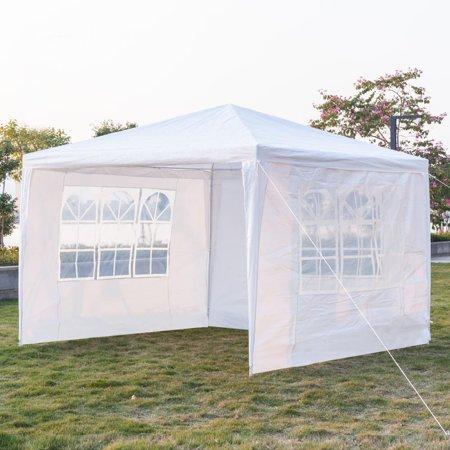 "UBesGoo Canopy Wedding Tent Outdoor Camping Gazebo Canopy with 3 Sidewalls Easy Set Gazebo BBQ Pavilion Canopy (10"" X 10"")"