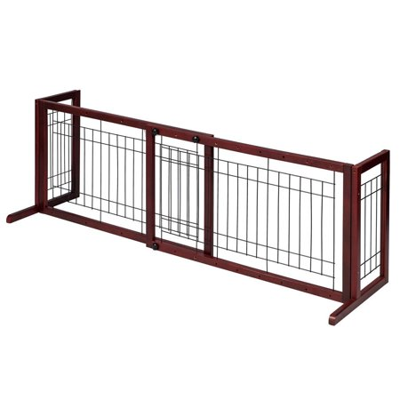 Freestanding Pet Gates Wood Free Standing Freestanding Pet Gate ...