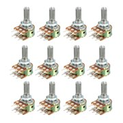 12pcs 1K 20K 5K 10K Variable Resistor Rotary Carbon Potentiometer Knob