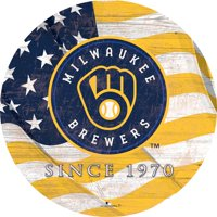 "Milwaukee Brewers 12"" Team Color Flag Sign"
