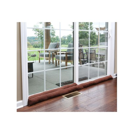 Home District Sliding Door Draft Dodger - Weighted Patio Door Breeze, Bug and Noise Guard Stopper Blocker - Approx. 71