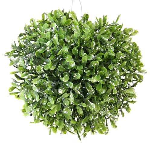 The Holiday Aisle 5'' Pine & Sparkling Silver Decorative Grass Ball