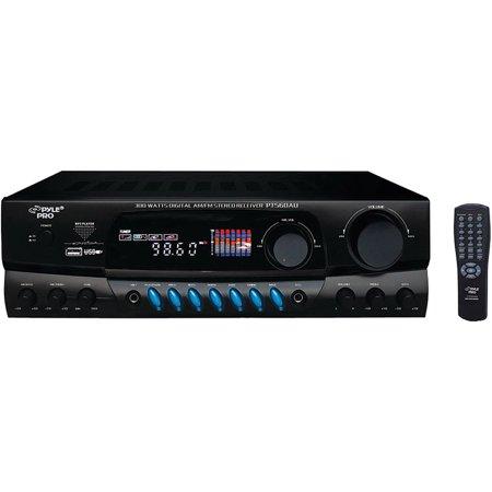 Pyle PT560AU 300W Digital AM FM USB Stereo Receiver by