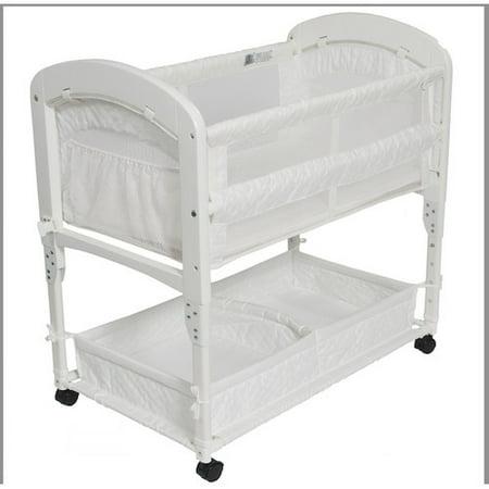Arm 39 s reach cambria co sleeper bassinet white for Arm s reach co sleeper