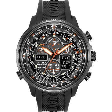 - Eco-Drive Navihawk Atomic Alarm Chronograph Men's Watch, JY8035-04E