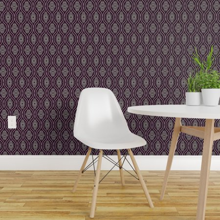 Removable Water Activated Wallpaper Elegant Holiday Winter