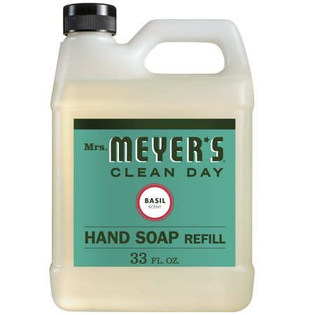 Mrs. Meyer's Liquid Hand Soap Refill, Basil, 33 fl