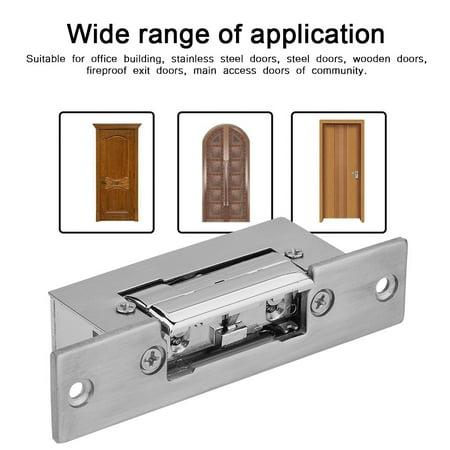 Ejoyous Adjustable Narrow-Type Electric Strike Door Lock Double Unlock Mode  Access Control Lock , Electric Strike Lock, Electronic lock
