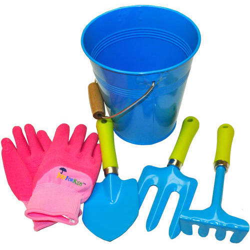 G & F JustForKids Water Pail with Tool Set and Glove
