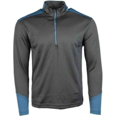 Page & Tuttle Mens Wrap Colorblock Quarter Zip Mock Neck  Golf Athletic Outerwear Pullover - ()