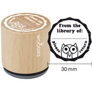 """Woodies Mounted Rubber Stamp 1.35""""-From The Library Of:"""