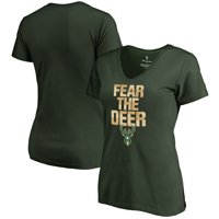 Milwaukee Bucks Fanatics Branded Women's Mantra V-Neck T-Shirt - Green